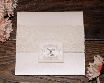 Lace Wedding Invitation, Lace Invitations, Lace Wedding Invitations, Lace Invitation, Cream Invitation, Cream Wedding Invitations, Invites