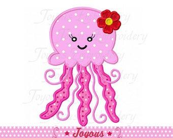 Instant Download Girl Jellyfish Applique Machine Embroidery Design NO:2366