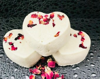 Sale!! Sensual Black Rose Moisturizing Heart Bath Bomb
