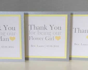 Plain & Simple | Love Heart | Wedding | Personalised | Thank You Cards