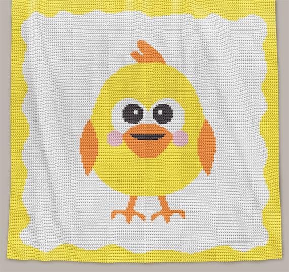 CROCHET Pattern - Baby Blanket Pattern - Chickie - Crochet Chick ...