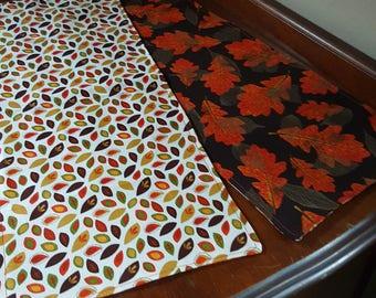 Orange leaves reversible runner