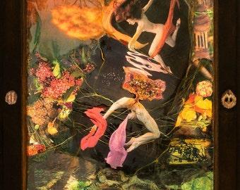 Art Print: Into Separation-Shamanic Journey- Healing Art -Spiritual- Visionary Art- Sacred Art - Meditation - Shari Landau- SacredArtByShari