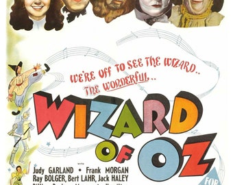 Vintage The Wizard of Oz Poster Print
