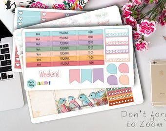 Sing Song planner stickers weekly kit