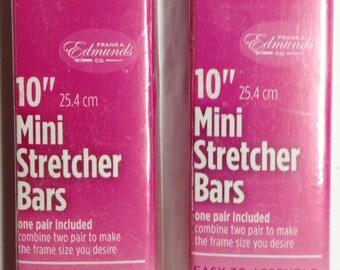"""Needlepoint Stretcher Bars - 10"""" Mini Stretcher Bars Set of 2"""