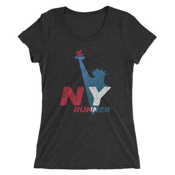 Women's New York Runner Tri-Blend T-Shirt - Run New York - Women's Short Sleeve Running Shirt