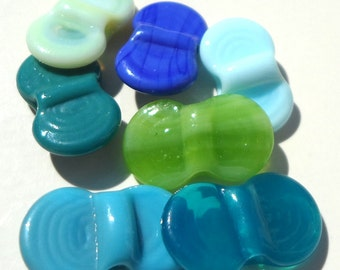 Wing Dings Mix Number 3-  handmade lampwork glass winged beads