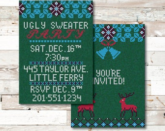 Ugly Sweater Party Invitation - Ugly Sweater Party - Ugly Sweater - Party - Ugly Christmas Sweater Party - Ugly Christmas Sweater - Invite