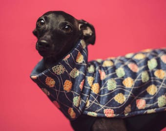 Italian greyhound clothes - original BERRY blouse for iggy with silky gloss