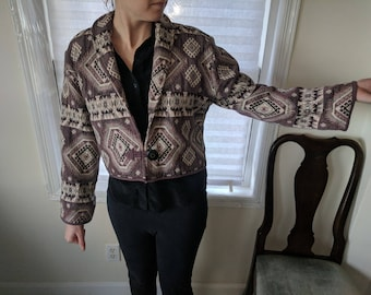 Women's Funky Patterned Vintage Jacket