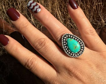 Buried Treasure Turquoise Ring (Size 7)