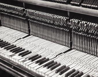 "Fine Art Photography, Musical Instrument, Portland Oregon, ""Discarded Keys #3"""