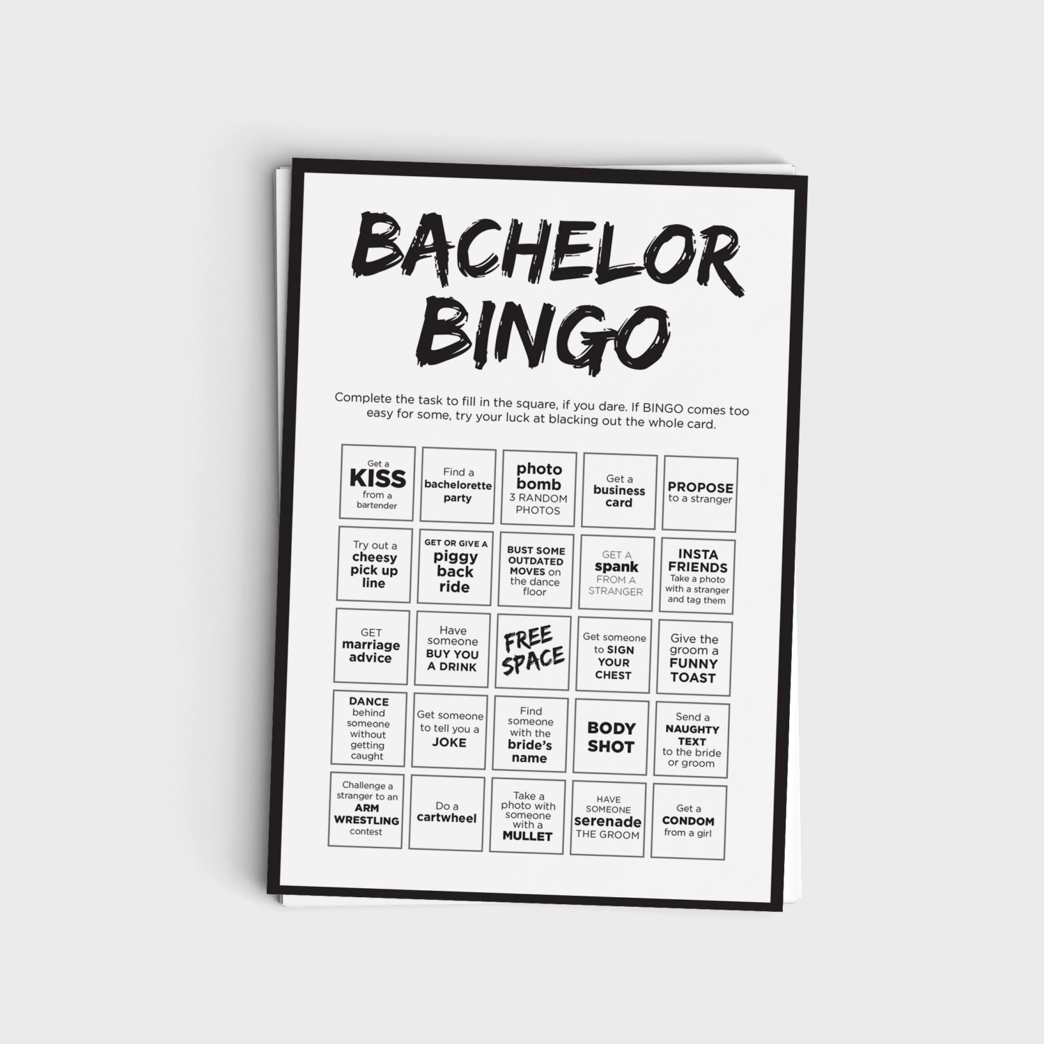 Fun bachelor party bingo scavenger hunt game printable zoom monicamarmolfo Choice Image