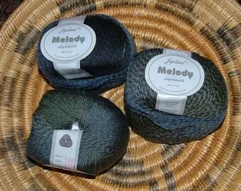 Jojoland Melody Superwash 100% Wool Yarn, Made in China, Color No MS36 Lot No 20 Charcoal Gray Grey Variegated