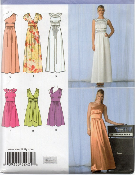GRECIAN & ROMAN Inspired DRESSES/Gowns Simplicity Pattern 2692 ...