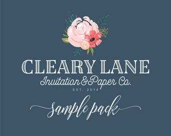 Sample Invitation Pack - Cleary Lane