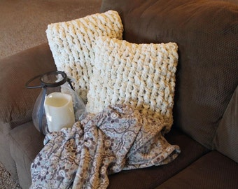 HANDMADE Chic Chunky Knit Pillow Cover
