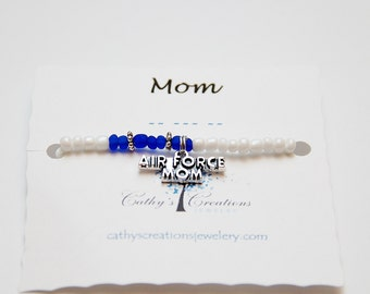Morse Code Bracelet, Air Force Mom, Air ForceJewelry, US Air Force, Military Jewelry, Personalized Jewelry