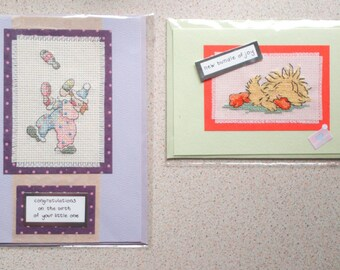 New Baby - Cross Stitch Cards