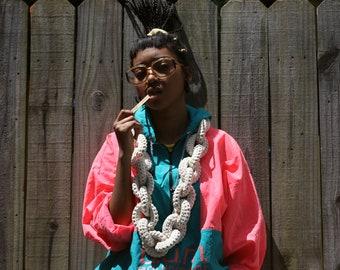 The Yokoo Buggaboo Dookie Chain Scarf (all cotton in creamy alfredo)