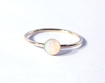Opal ring, Gold Opal Ring, October ring, Birthstone ring, Opal stacking ring, Opal birthstone ring, boho ring, boho chic, boho luxe