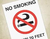 No Smoking Printable Sign...
