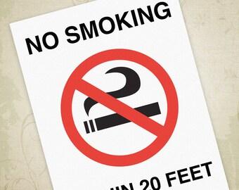 No Smoking Printable Sign PDF, Do Not Smoke Poster, No Smoking Flyer - Editable Custom Template, Digital File, Instant Download