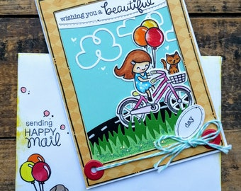 Have a Beautiful Day Birthday Card Bicycle