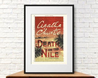 Death on the Nile by Agatha Christie. Book Cover Art Print