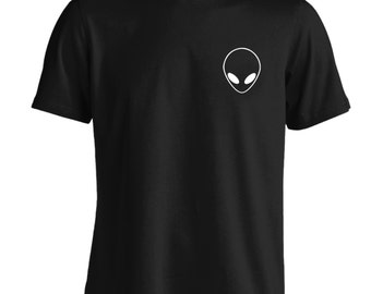 Alien pocket Tshirt white hipster tumblr instagram weheartit scifi geek halloween space sci-fi UFO universe grunge sweatshirt T Shirt 76