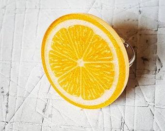 Glitter Orange Slice Ring