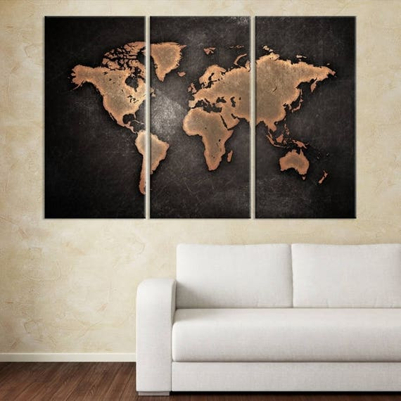 World map art print large world map world map canvas large like this item gumiabroncs Image collections