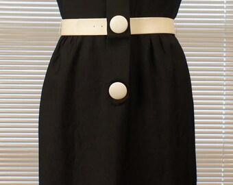 Operator 4 Size 16 VINTAGE Black Sleeveless Sheath Dress
