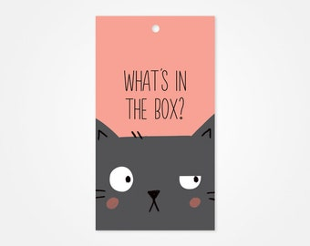 Curious Cat Gift Tag, Funny Gift Tags, Holiday Gift Tags, Xmas Gift Tags, Funny Christmas Gift Tag, Funny Xmas Gift Tag, Christmas Gift Wrap