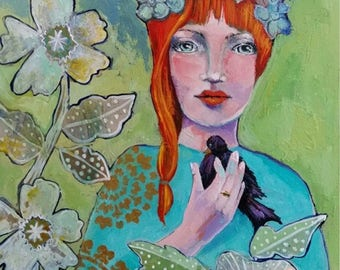 """ACEO Art Reproduction 2.5"""" x 3.5"""" open edition."""