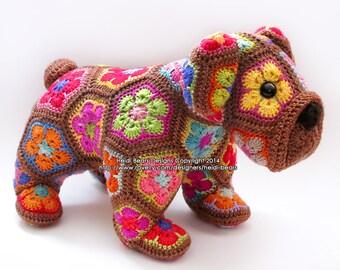 Max das Afrikanische Blume Bulldog häkeln Muster