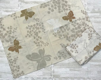 Set Of 2 Vintage Springmaid Wondercale Pillowcase Butterflies Brown Leaves