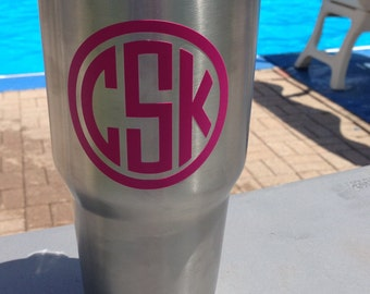 Monogrammed Insulated Tumbler -Yeti Like Tumbler - Personalized Stainless Steel Tumbler - Bridesmaid Gifts - Beach Cup 20 oz or 30 oz option