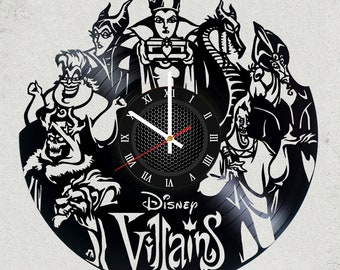 DISNEY Villains MOViE wall clock gifts for men gift for kids gifts for boys disney gifts tshirt present alternative disney the best