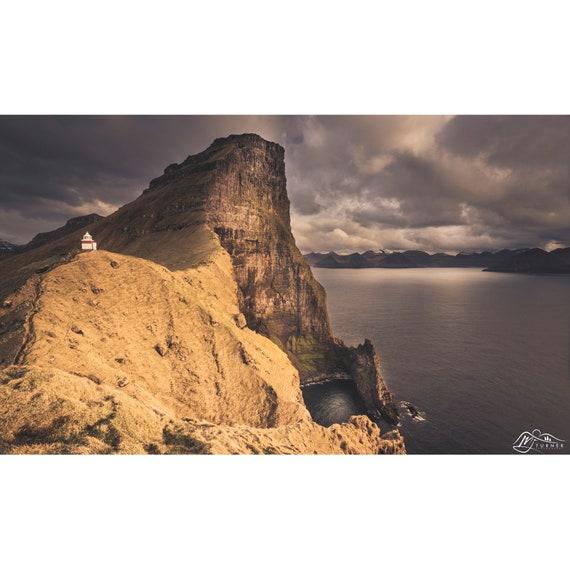 Borgarin above Kallur Lighthouse [Photographic Print]