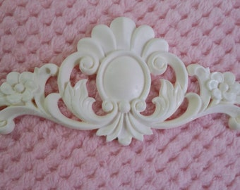 Flourish with flowers embellishment/resin applique