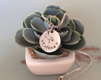 Hand Stamped Name Necklace