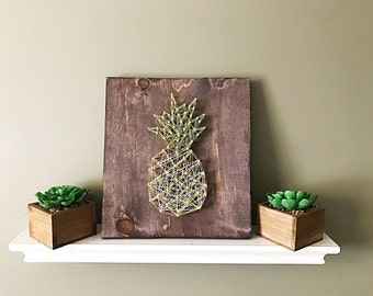 Pineapple Sign, Pineapple Kitchen Decor, Pineapple String Art, Tropical  Decor, Pineapple Wood Pictures Gallery