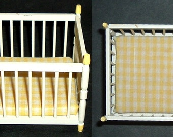 MINIATURE PAINTED CRIB