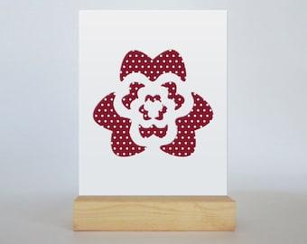 Rose Cut Paper Design