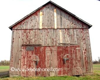 "Barn Photography ""Red & Grey Tobacco Barn"""