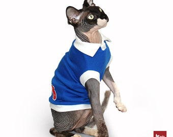 Cat clothes Sphynx Cat cloting Polocats | Blue Polo