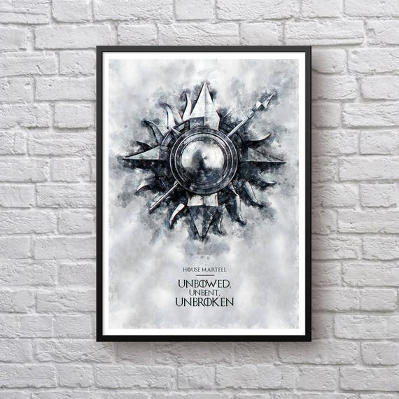 Game of Thrones Print Poster House Martell Sigil Poster