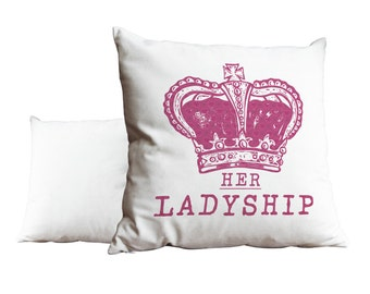 Her Ladyship Crown Cushion Scatter -  Pillow Cushion Scatter Throne Christmas Birthday Gift Loved one